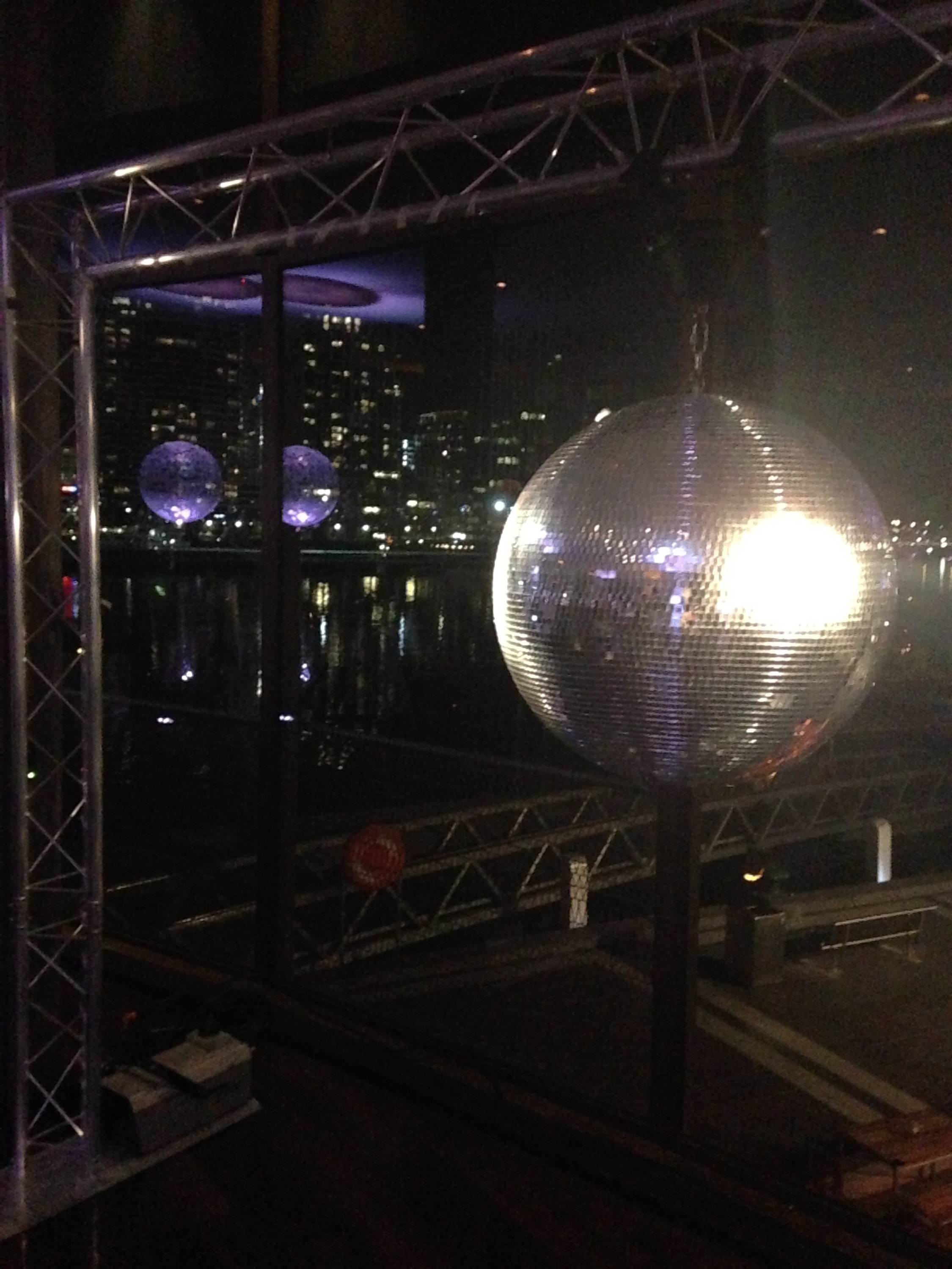 Mirror ball for themed work Christmas party