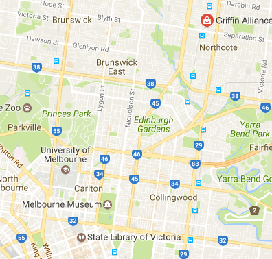 griffin alliance wedding dj melbourne map